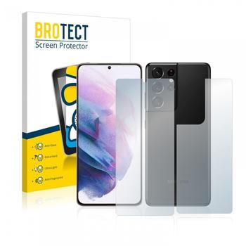 BROTECT AirGlass Matte Panzerglasfolie für Samsung Galaxy S21 Ultra 5G (Vorder + Rückseite)