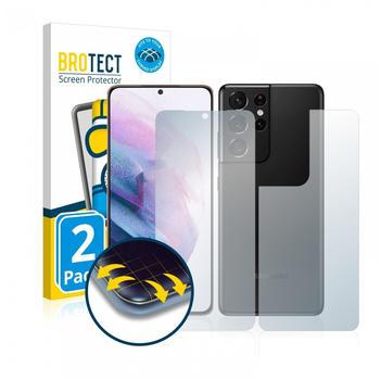 BROTECT Flex Matte Full-Cover Displayschutzfolie für Samsung Galaxy S 21 Ultra 5G (Vorder + Rückseite) 2x