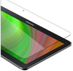 Cadorabo Panzer Folie Tempered für Samsung Galaxy Tab 4 (10,1 Zoll), Schutzfolie in 9H Härte