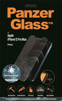 PanzerGlass Privacy antibakteriell Displayschutzfolie iPhone 12 Pro Max