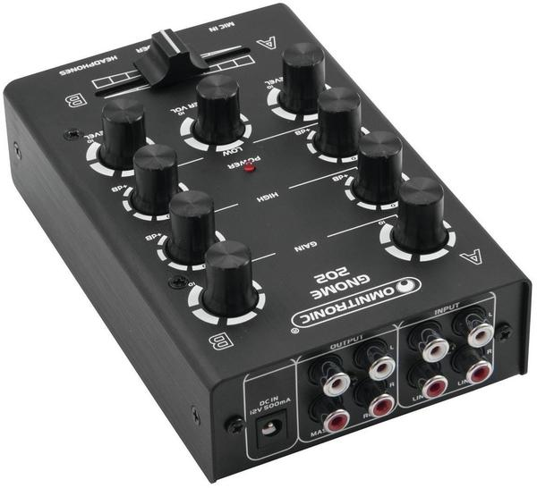 Omnitronic GNOME-202 Mini-Mixer Schwarz