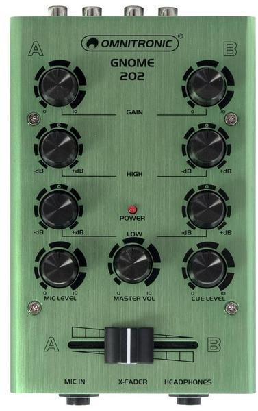 Omnitronic GNOME-202 Mini-DJ-Mixer Grün
