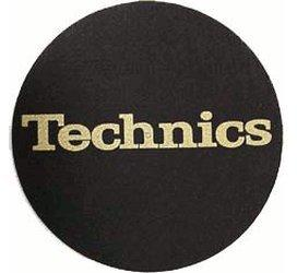 Technics Slipmat Black/Gold-Logo