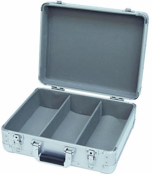 Roadinger CD-Case ALU Digital-Booking abgerundet - Silber