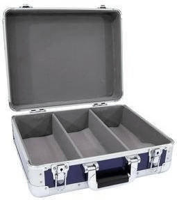 Roadinger CD-Case ALU Digital-Booking abgerundet - Blau