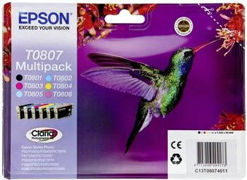 Epson T0807 Multipack 6-farbig (C13T08074010)
