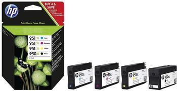 HP Nr. 950XL + Nr. 951XL Multipack 4-farbig (C2P43AE)