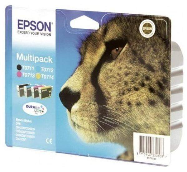 Epson T0715 Multipack 4-farbig (C13T07154010)