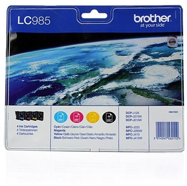 Brother LC-985 Multipack 4-farbig (LC985VALBPDR)