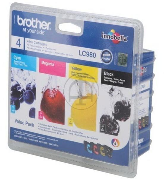 Brother LC-980 Multipack 4-farbig (LC980VB1PDR)