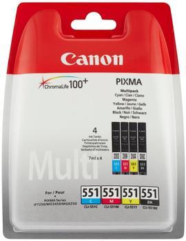 Canon CLI-551 Multipack 4-farbig (6509B009)