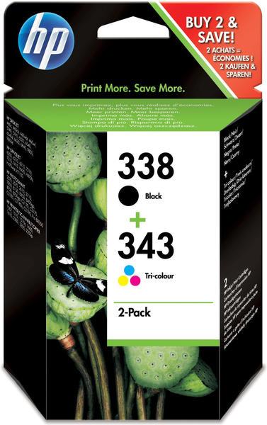 HP Nr. 338+Nr. 343 Multipack 4-farbig (SD449EE)