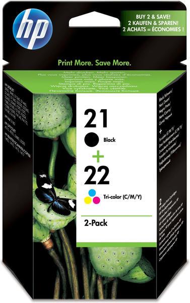 HP Nr.21+Nr.22 Multipack 4-farbig (SD367AE)