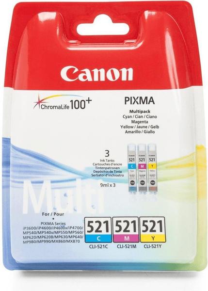 Canon CLI-521 Multipack 3-farbig (2934B010)