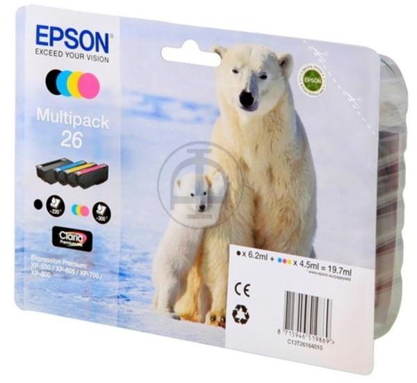 Epson 26 Multipack 4-farbig (C13T26164010)