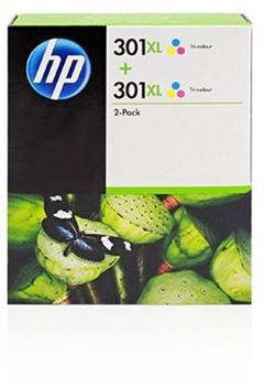 HP Nr. 301XL 3-farbig Doppelpack (D8J46AE)