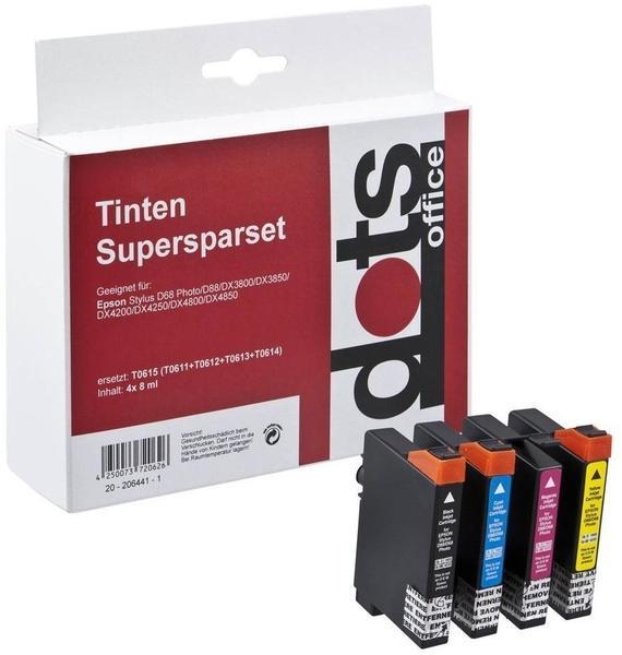 Dots Office 1603,4005 ersetzt Epson T0615 4er--Pack