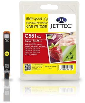 JetTec CL51Y ersetzt Canon CLI-551YXL gelb