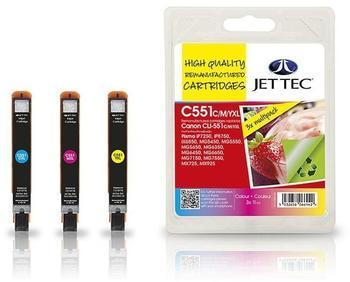 jet-tec-wiederbefuellte-tintenpatrone-cli551-cyan-magenta-gelb