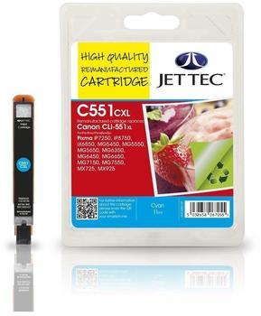 JetTec CL51C ersetzt Canon CLI-551C cyan
