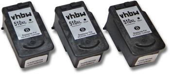 vhbw 800107264 ersetzt Canon PG-510XL 3er Pack schwarz