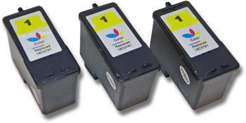 vhbw 3x Druckerpatronen Tintenpatronen Set für Lexmark X2310, X2315, X2330, X2350, X2450, X2470, X3450, X3470 wie Lexmark 1, 18C0781E, 18CX781E.
