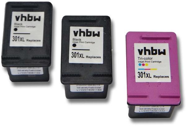 kompatible Ware kompatibel zu HP 301XL 2x schwarz + CMY