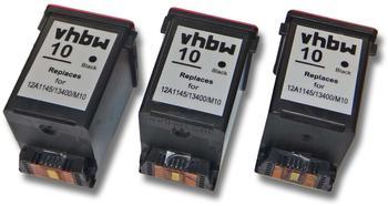 vhbw 3x Druckerpatronen Tintenpatronen Set für Samsung SF-4000, SF-4020, SF-4100, SF-4108, SF-4120 wie Samsung INK-M10, Lexmark 13400HC.