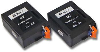 vhbw 2x Druckerpatronen Tintenpatronen Set für Canon Fax B200S, B220, B300, B310, B320 F, B340, B340 F, B360, B400 wie Canon BC-01, BC-02, BX-02.