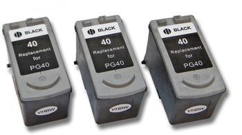 vhbw 3x Druckerpatronen Tintenpatronen Set für Canon Pixma mx300, mx310 wie Canon PG-40, PG-50.
