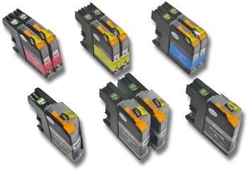 kompatible Ware kompatibel zu Brother LC-125XL LC-127XL 4x schwarz + 2x CMY