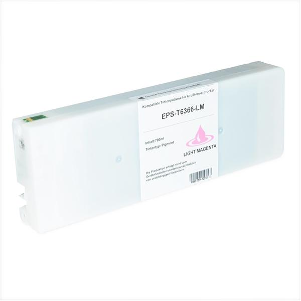 Logic-Seek Patrone für Epson Stylus 7900/9900 T6366 lm Photo Magenta, 700ml, kompatibel zu C13T636600