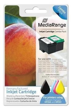 MediaRange - - Tintenpatrone Schwarz, Farbe (Cyan, Magenta, Gelb) - MRHP350B351C