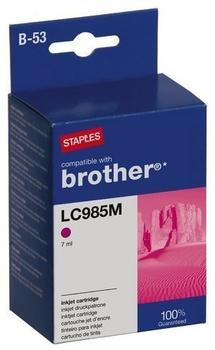 staples-kompatibel-zu-brother-lc-985m-magenta