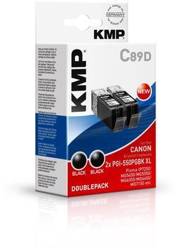 KMP C89D ersetzt Canon PGI-550PGBKXL schwarz (1518,0021)