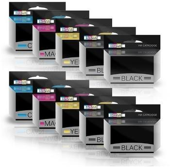 Prestige Cartridge SET 10 Rebuilt HP932XL & HP933XL Mit Chip Druckerpatronen - ZWEI SETS PLUS ZWEI SCHWARZE