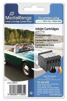 MediaRange kompatibel zu Epson T089x T071x 2x schwarz + CMY