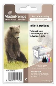 MediaRange Tintenpatronen, für Brother® LC-985 Serie, 5er Set