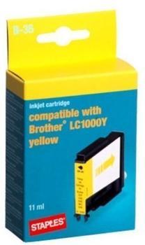 staples-b-35-kompatibel-zu-brother-lc-1000y-gelb