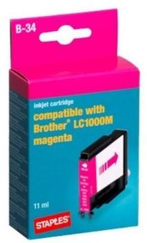staples-b-34-kompatibel-zu-lc-1000m-magenta