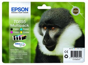 Epson T0895 Multipack 4-farbig (C13T08954010)