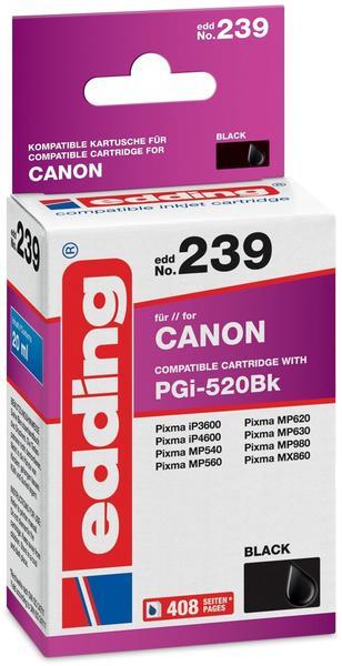 edding EDD-239 ersetzt Canon PGI-520BK schwarz