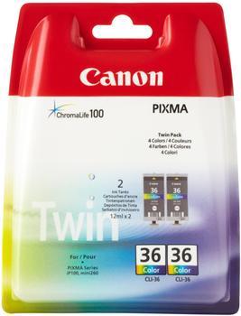 Canon CLI-36 Doppelpack 4-farbig (1511B018)
