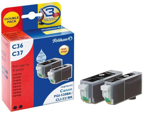 Pelikan C36/C37 ersetzt Canon PGI-520 / CLI-521BK (4105615)