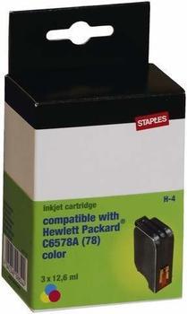 staples-tintenpatrone-hp-78-dreifarbig
