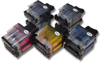 vhbw 10 x vhbw Druckerpatronen Tintenpatronen Set für Brother Brother DCP-310C, DCP-310CN, DCP-315CN wie LC-900BK, LC-900C, LC-900M, LC-900Y.