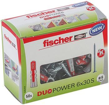 Fischer Duopower 6 x 30 S LD mit Schraube 50 Stück (535459)