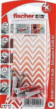 Fischer DuoPower 6 x 30 S A2 K 4 St.