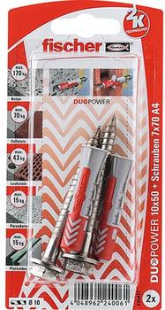Fischer DuoPower 10 x 50 S A4 K 2 St.