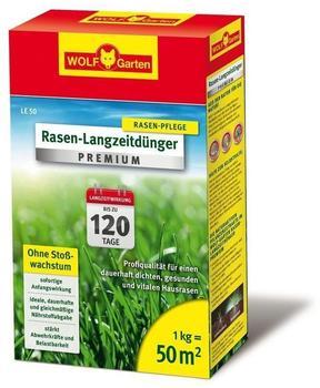 Wolf-Garten Rasen-Langzeitdünger Premium LE 50m²